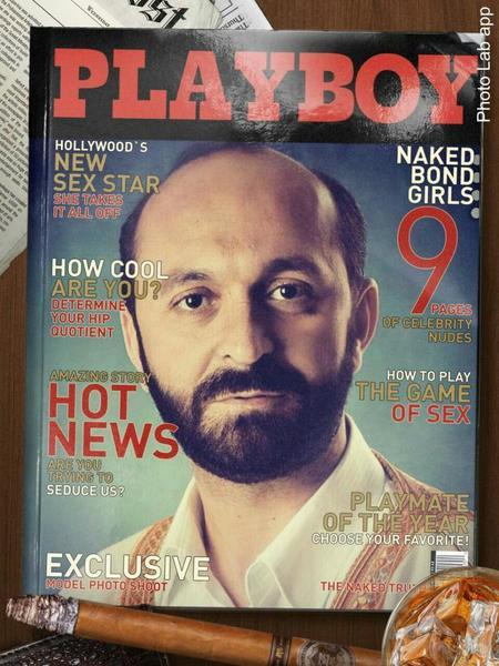 عکس سعید طوسی بر روی مجله پلی بوی